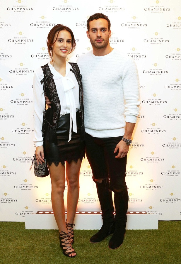 Lucy Watson and boyfriend James Dunmore at the Champneys launch party in London, 18th November 2015