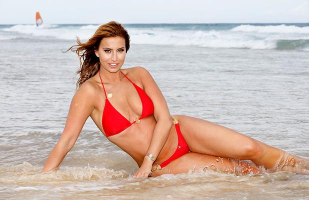 Ferne McCann on the beach at Surfers Paradise, Queensland, Australia - 16 Nov 2015