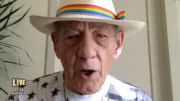 Ian McKellen on I'm A Celebrity Get Me Out Of Here NOW, 2015