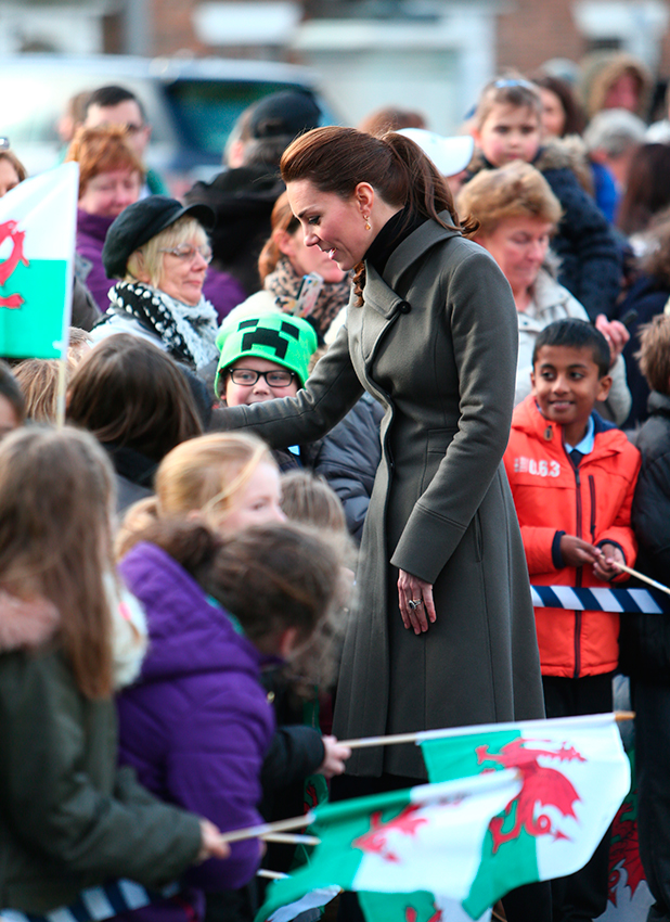 The Duke and Duchess of Cambridge make an official visit to Caernarfen 20 Nov 2015