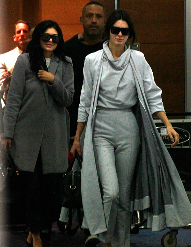 Kendall Jenner and Kylie Jenner at Sydney Airport, Australia - 17 Nov 2015