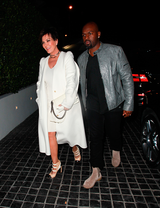 Kris Jenner out for dinner with her boyfriend at Cecconi's in Beverly Hills 19 Nov 2015