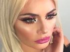 Copy Chloe Sims' vibrant fuchsia eye make-up in minutes!