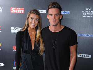 Lillie Gregg and Gaz Beadle attend the after party for Rugby Aid 2015 at Twickenham Stadium in London, England on September 4, 2015 .