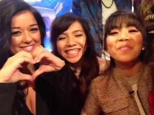 X Factor: Lauren Murray and 4th Impact speak in a video on Xtra Factor. 22 November 2015.