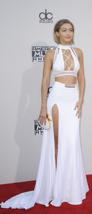 Gigi Hadid on the red carpet at the American Music Awards 2015 in Los Angeles, 23rd November 2015