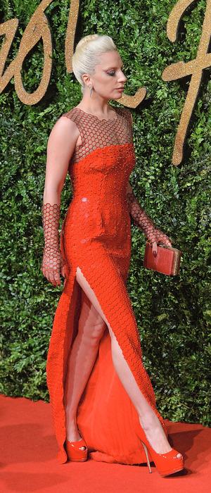 Lady Gaga attends The British Fashion Awards sponsored by Swarovski, London Coliseum, 24th November 2015