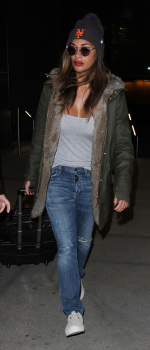 Nicole Scherzinger spotted at L.A.X Airport in Los Angeles, 26th November 2015