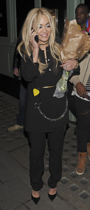 Rita Ora pictured arriving at China White in Mayfair after dinner at Sexy Fish for birthday celebrations, 25th November 2015