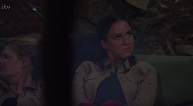 I'm A Celebrity...Get Me Out Of Here! Vicky Pattison unimpressed with Brian Friedman in camp. 22 November 2015.