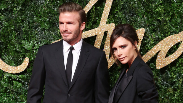 David Beckham and Victoria Beckham at The British Fashion Awards 2015 - 23 November 2015.