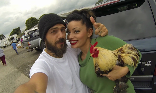 Country Strife: Abz on the Farm - Abz Love and Vicky Fallon in the show which follows them as they leave their city life and purchase a smallholding in Carmarthenshire - 16 August 2015.