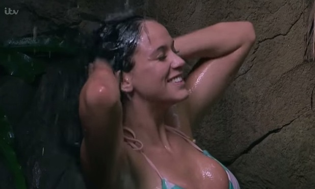 I'm A Celebrity...Get Me Out Of Here! Vicky Pattison shower scene. 22 November 2015.