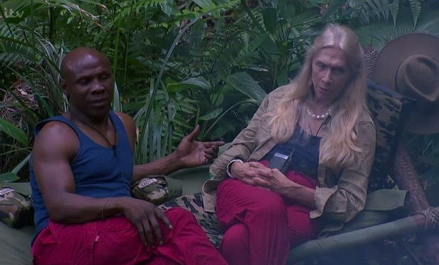I'm A Celebrity...Get Me Out Of Here! Chris Eubank and Lady C discuss Duncan's new rules. 22 November 2015.