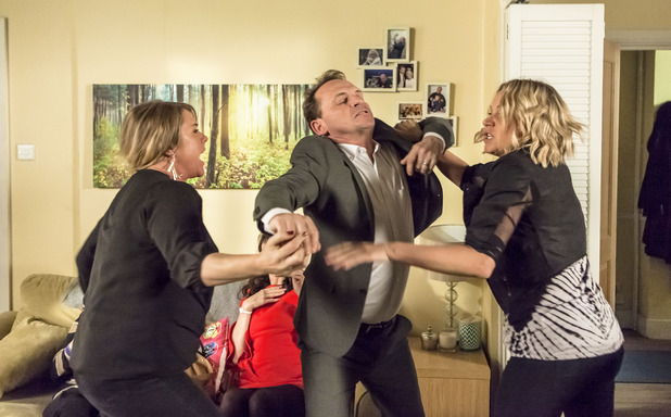 EastEnders, Roxy and Sharon fight, Tue 24 Nov