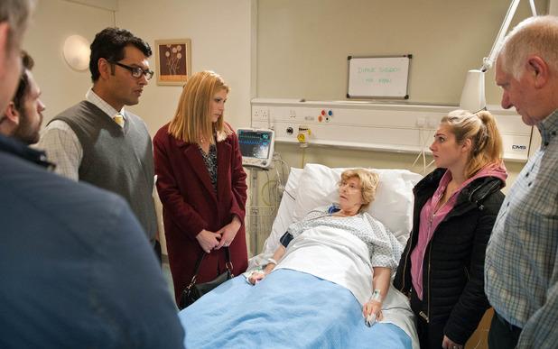 Emmerdale, the doctor has some news for Diane, Fri 27 Nov