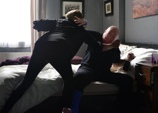 EastEnders, Phil and Sharon argue over booze, Fri 27 Nov