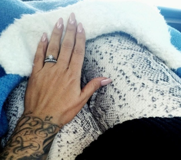 Jodie Marsh shows off her wedding and engagement rings, Instagram 26 November