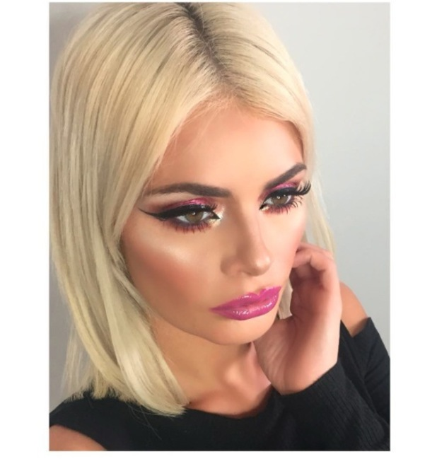 Chloe Sims posts picture of her eye make-up look on Instaram, 25th November 2015
