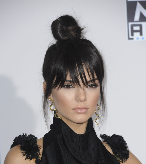 Kendall Jenner shows off her topknot at the 2015 American Music Awards 2015, 23rd November 2015