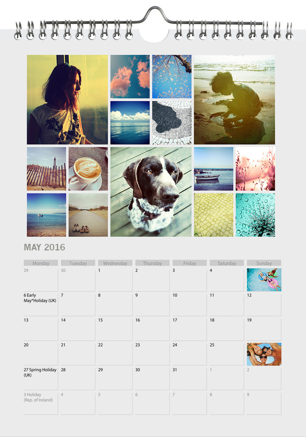 PhotoBox calendar collage.