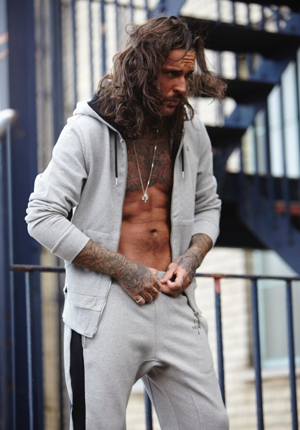 TOWIE's Pete Wicks on his debut calendar shoot. November 2015.