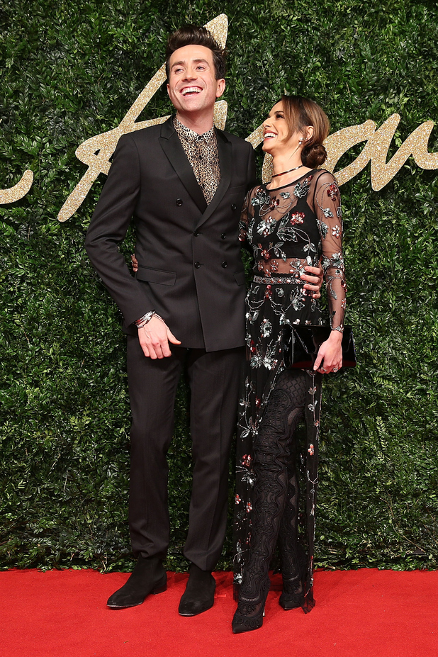 Cheryl Fernandez-Versini and Nick Grmshaw at The British Fashion Awards 2015 - 23 November 2015.