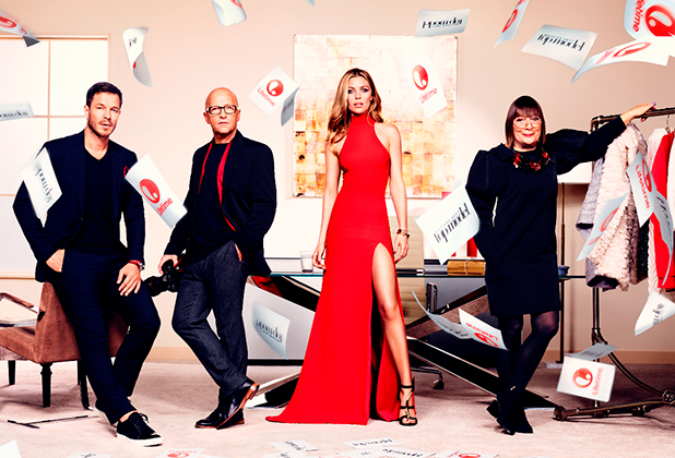 Britain's Next Top Model group shot of judges: Paul Sculfor, Hilary Alexander, Abbey Clancy, Nicky Johnston