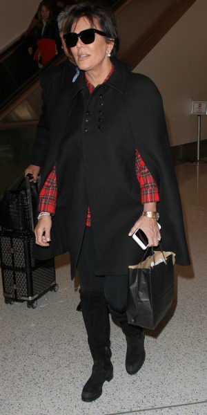 Kris Jenner arrives at Los Angeles International Airport