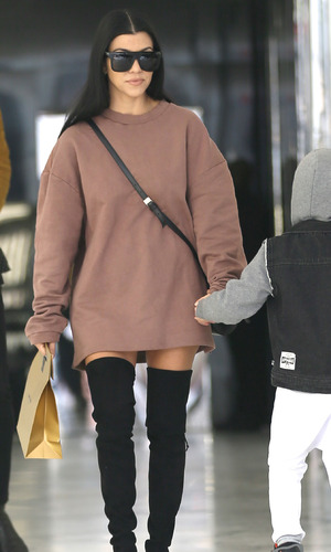Kourtney Kardashian out and about on Rodeo Drive in Los Angeles, 1st December 2015