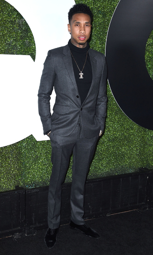 Tyga arrives at tbe GQ Men Of The Year Party at Chateau Marmont on December 3, 2015 in Los Angeles, California.
