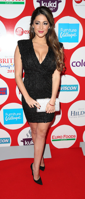 Casey Batchelor at the British Curry Awards in London, 1st December 2015