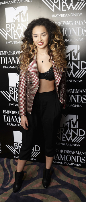 Singer Ella Eyre at the MTV Brand New event in London, 2nd December 2015