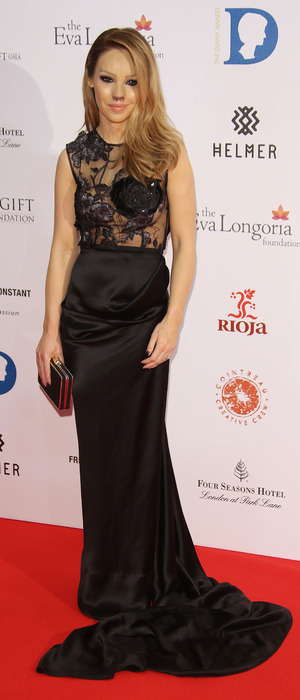 Katie Piper on the red carpet at The Global Gift Gala 2015 held at the Four Seasons Hotel, London 1st December 2015