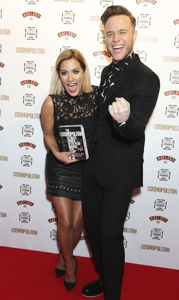 Caroline and Olly at the Cosmopolitan Ultimate Women Awards 2015 with Baileys at One Mayfair, London. 2 December 2015.