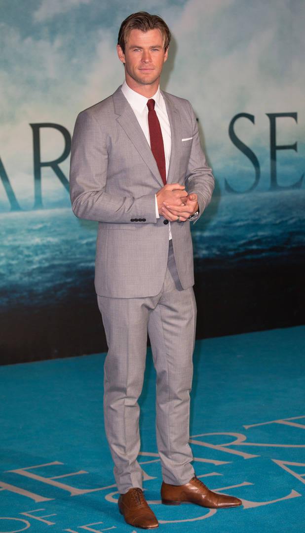 Chris Hemsworth at the European Premiere of 'In The Heart Of The Sea' held at the Empire Leicester Square - 2 December 2015.