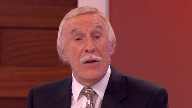Sir Bruce Forsyth promoting his new book, 'Strictly Bruce: Stories Of My Life', on Loose Women. 2 October 2015.