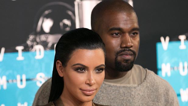 Kim Kardashian and Kanye West at 2015 MTV Awards