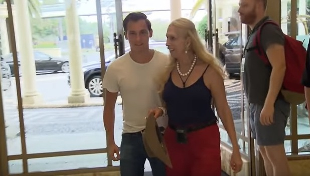 I'm A Celebrity...Get Me Out Of Here! 02 Dec 2015 Lady Colin Campbell and her son Dima after leaving the jungle.