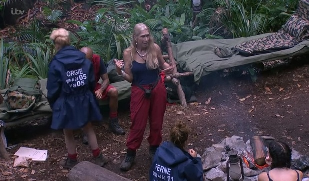 I'm A Celebrity: Lady C argues with Tony. 2 Dec 2015