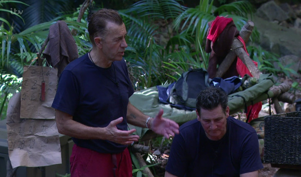 Duncan Bannatyne and Tony Hadley on 'I'm A Celebrity... Get Me Out Of Here. 30 November 2015.