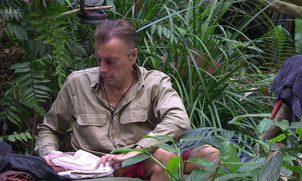 'I'm A Celebrity...Get Me Out Of Here!' TV show, Australia - 30 Nov 2015 Lady C moans to Kieron Dyer about Duncan not keeping up with his chores and cleaning up the Emu mess.