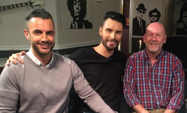 Rylan Clark-Neal and new husband Dan carry out an interview for the first time together on This Morning. 4 December 2015.