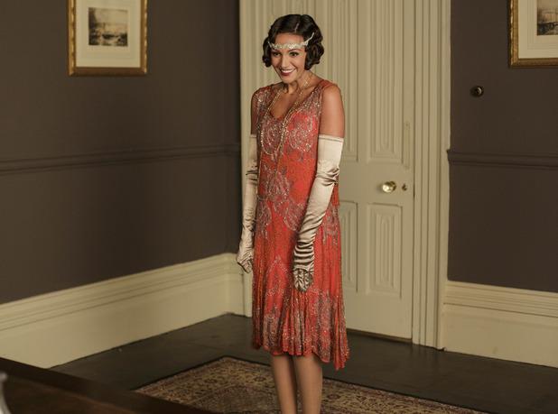 Michelle Keegan makes Downton Abbey debut for Text Santa sketch - December 2015.