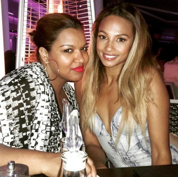 Alesha Dixon and hairdresser, Michelle Sultan, 26 April 2015