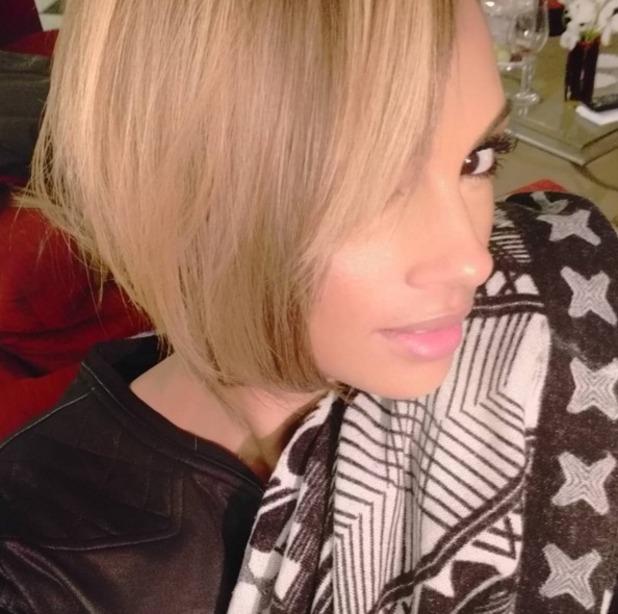 Alesha Dixon wears blonde short wig and debates a new hairdo, 30 November 2015