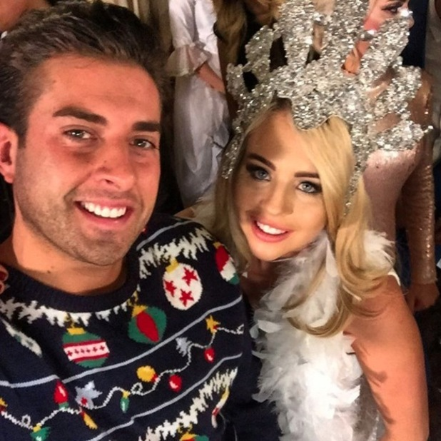 James Arg Argent and girlfriend Lydia Bright take Christmas selfie 30 November