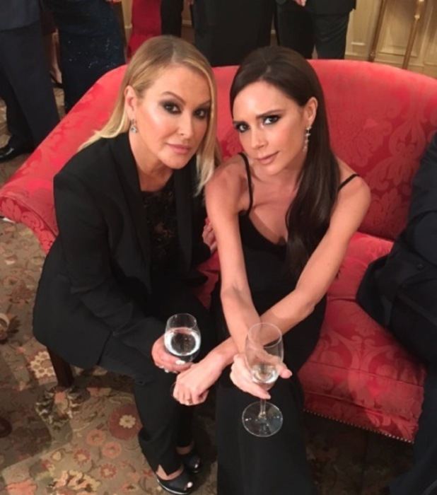 Victoria Beckham and singer Anastacia take selfie at the Global Gift Gala, 1st December 2015