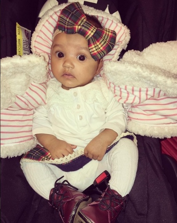 The Valley's Lateysha Grace shares a snap of daughter Wynter, November 2015