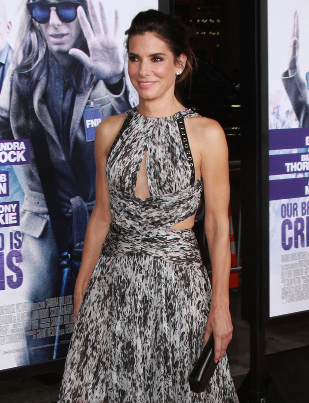 Sandra Bullock a Our Brand Is Crisis Premiere held at the TCL Theatre in Hollywood - 27 October 2015.